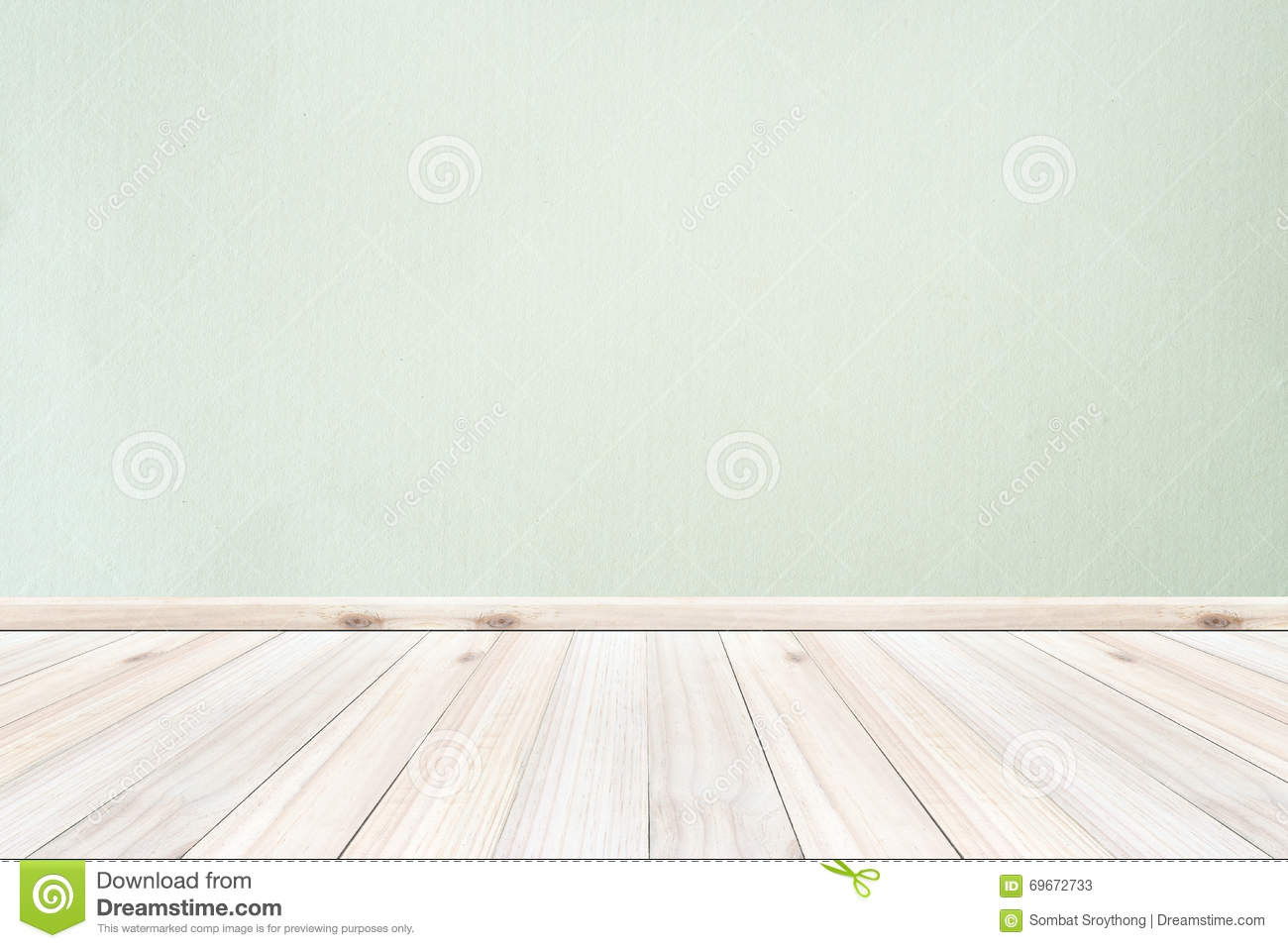 Empty Interior Wood Room White Light Colors Wall And Floor Stock