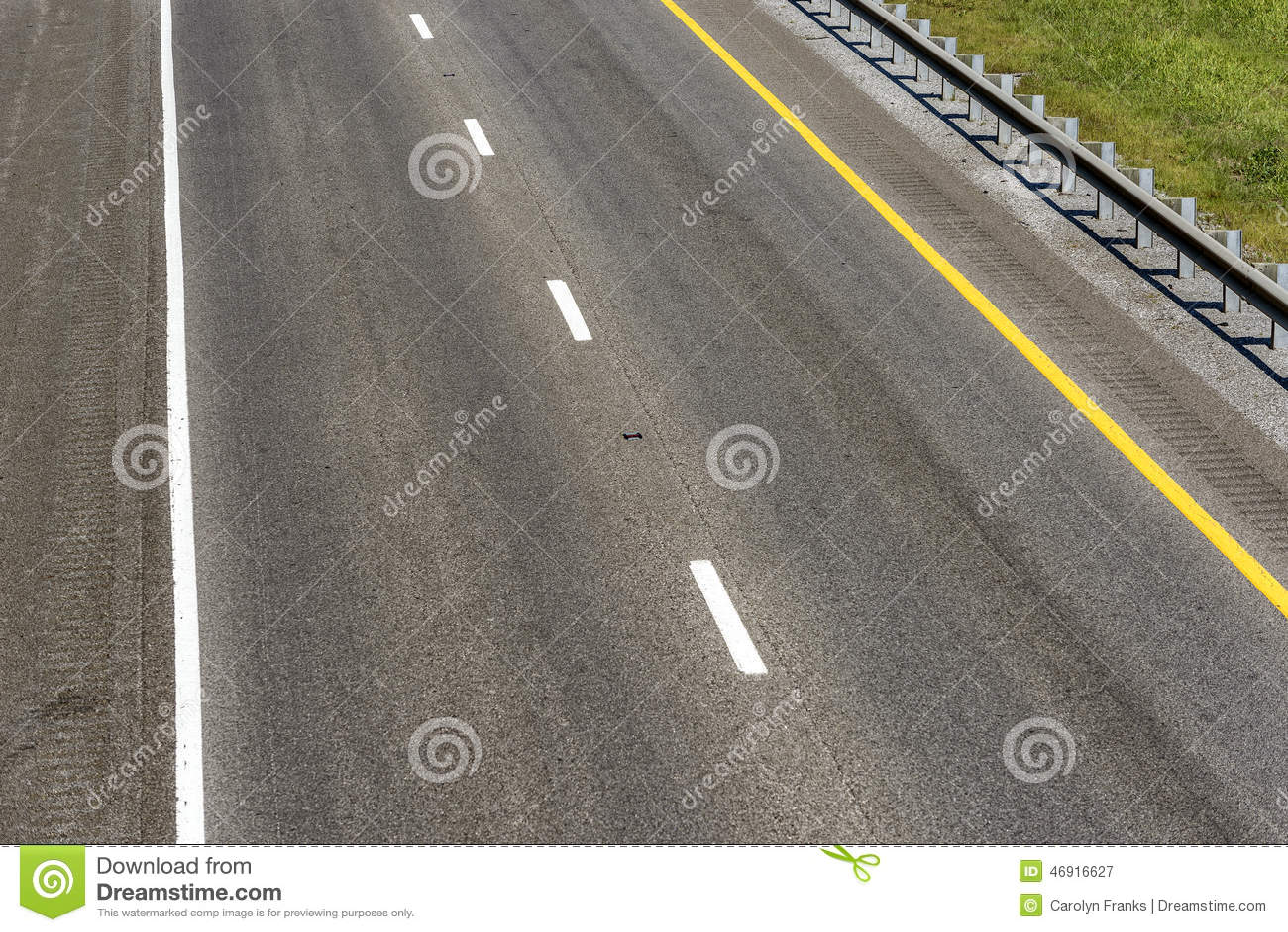 Empty Interstate Highway Copy Space