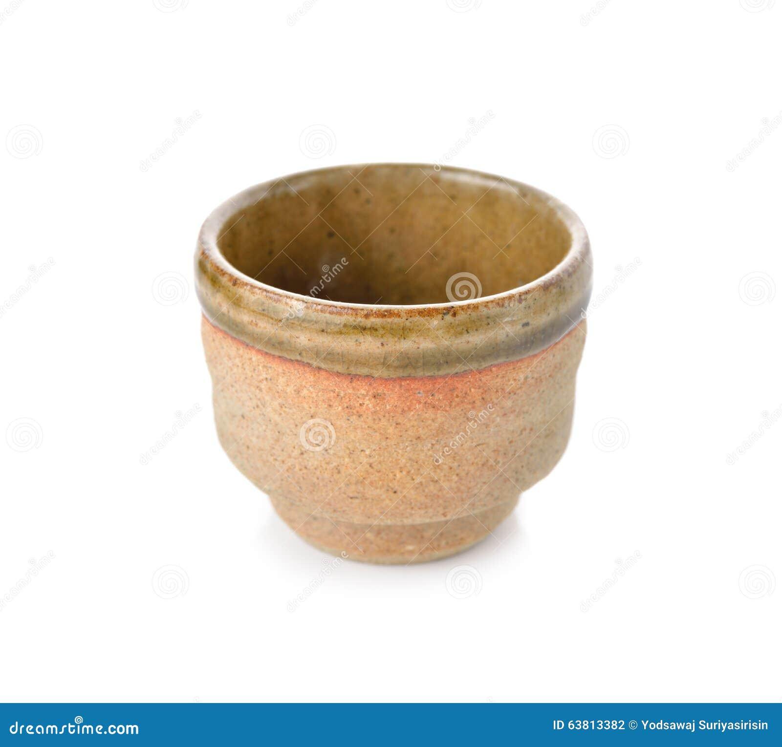 Empty Japanese Tea Cup On White Stock Photo - Image: 63813382