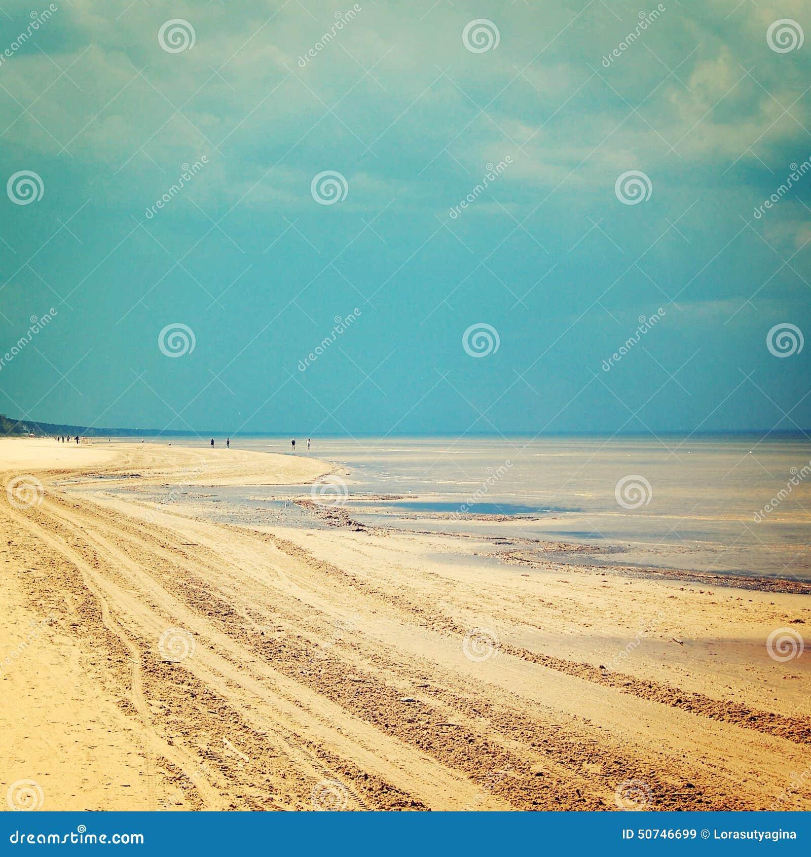 Empty Jurmala Beach Out Of Season