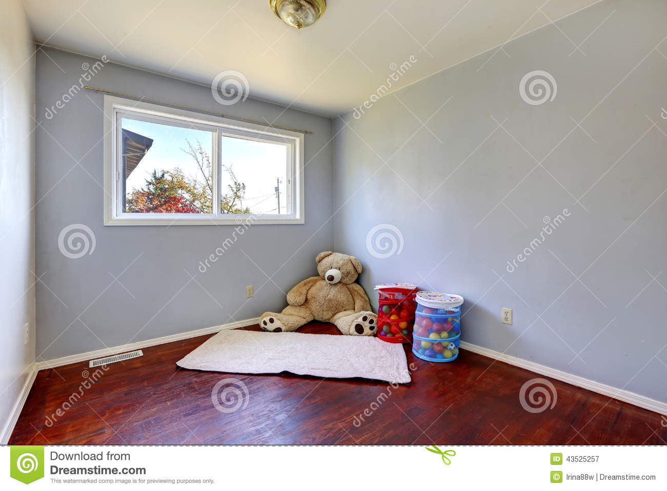 Empty Kids Room With Toys Stock Image Of Architecture