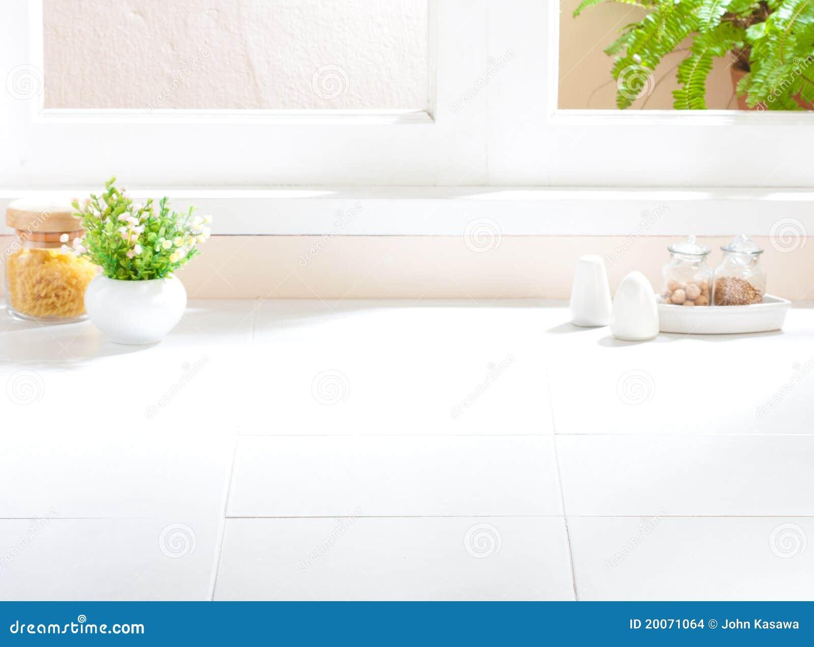 Empty blank kitchen interior