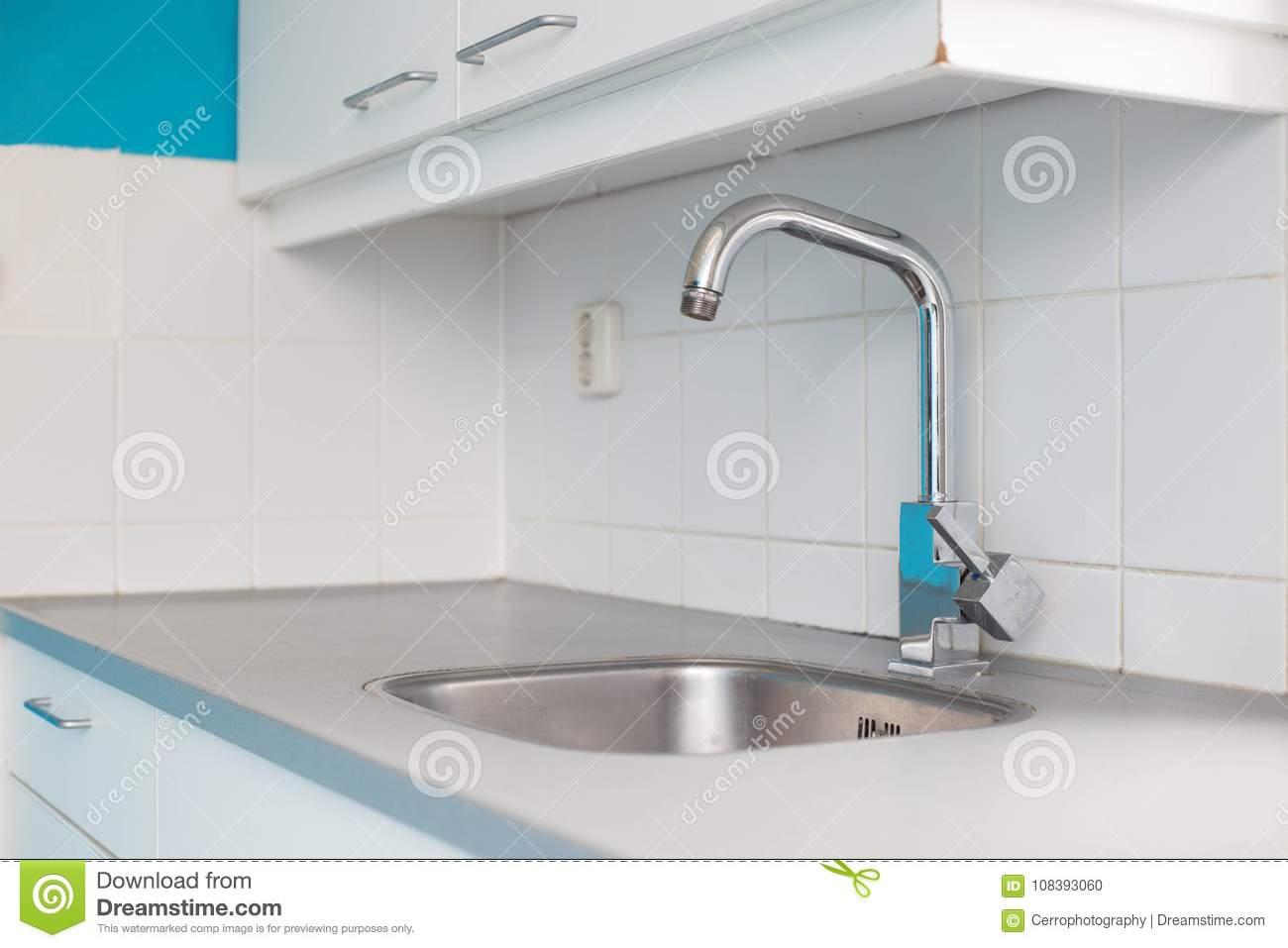 Empty Kitchen Sink Old Design Stock Photo - Image of basin, metal ...