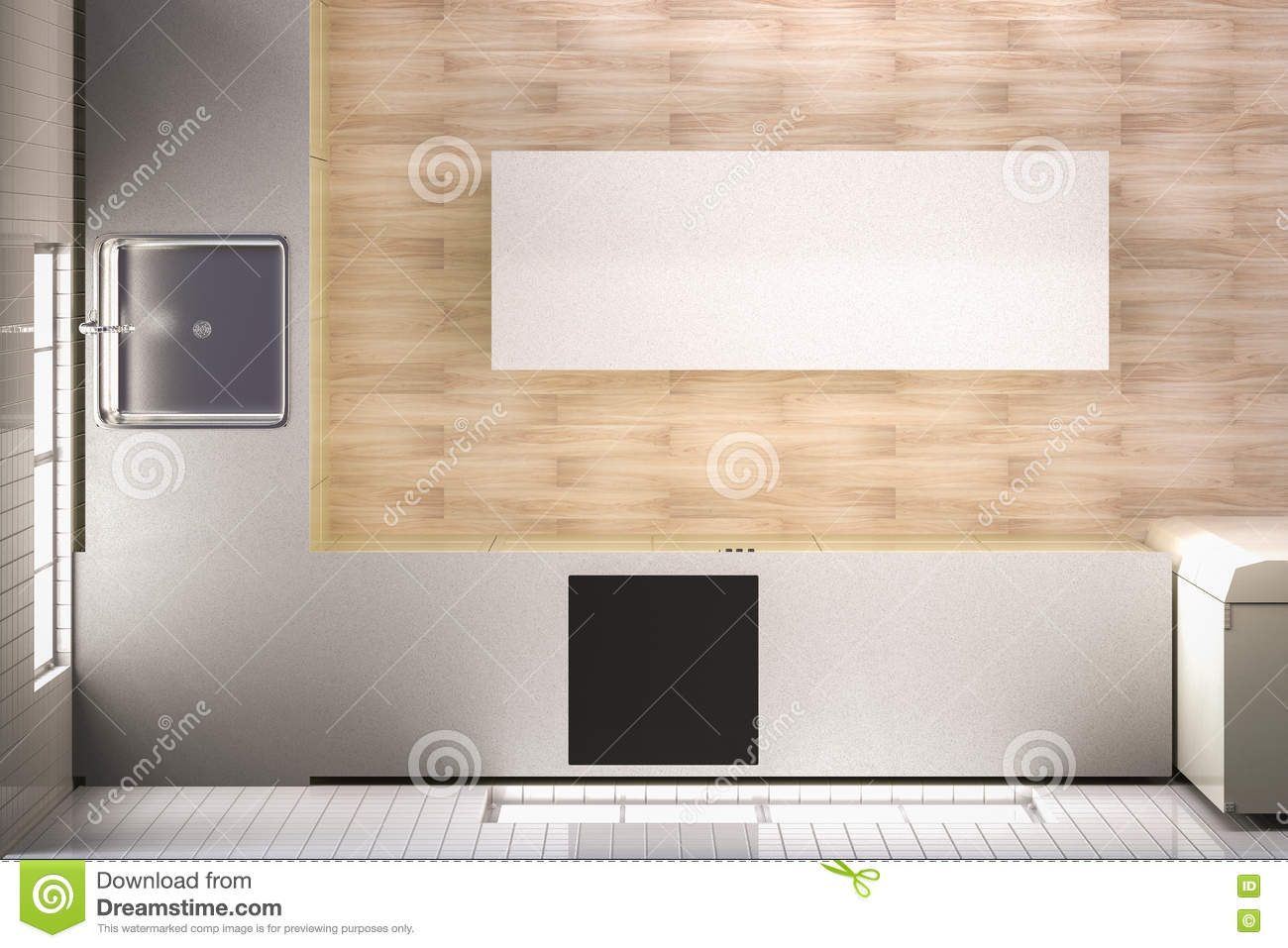 Kitchen Top View Stock Illustrations