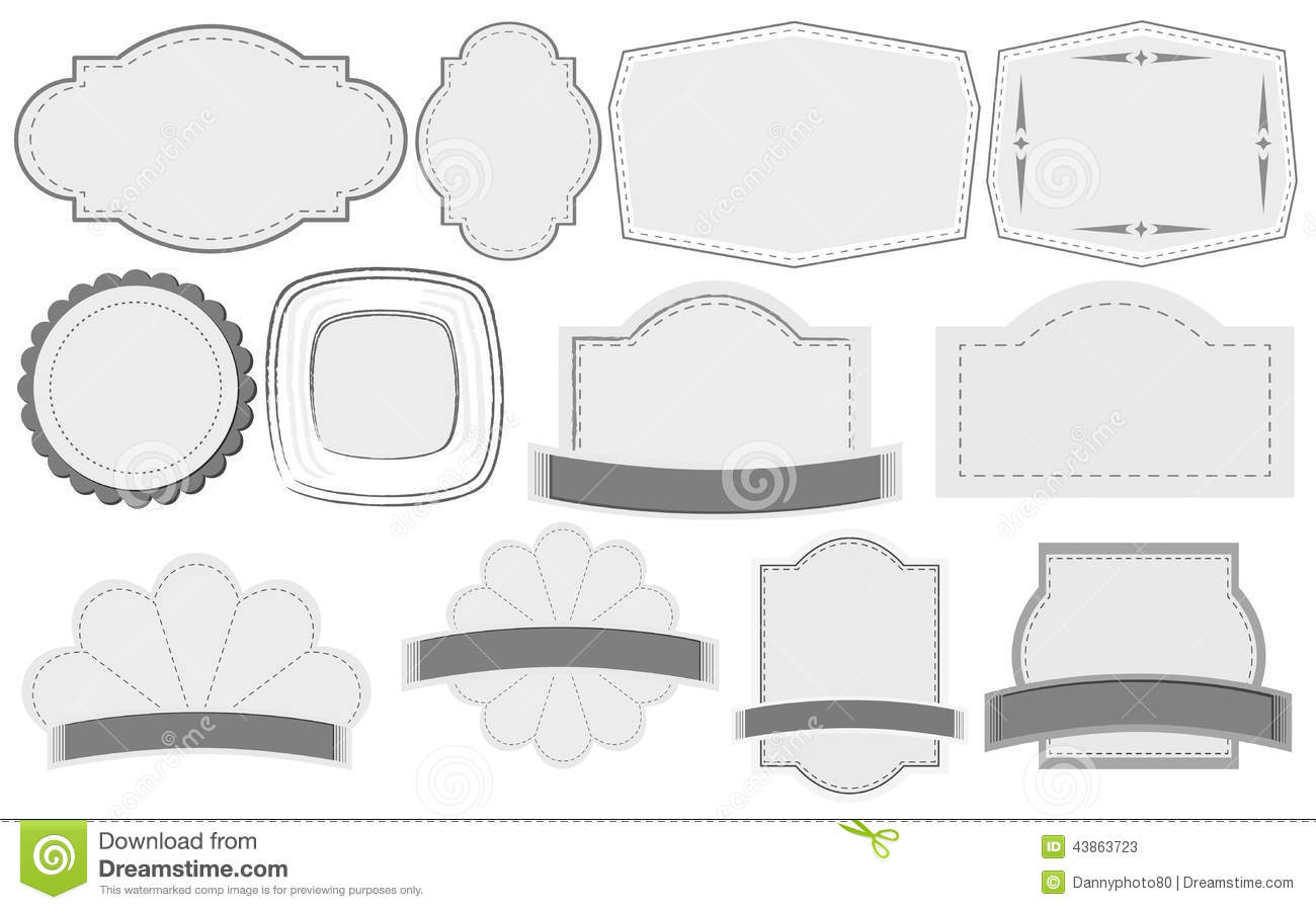 Empty label templates stock vector image 43863723 for Z label templates