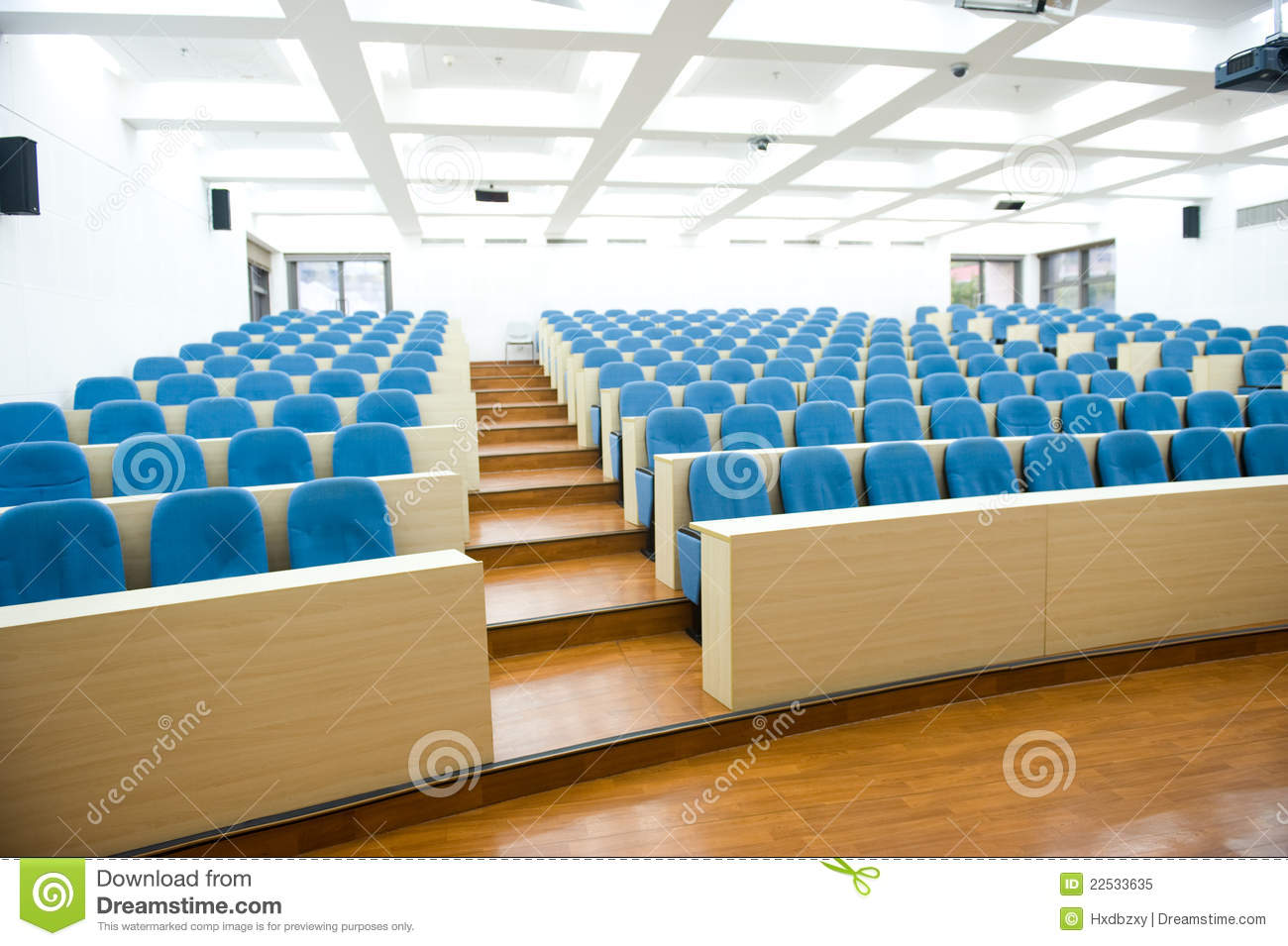 empty lecture hall front