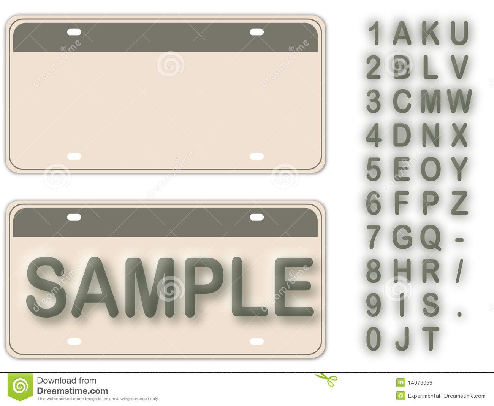 Empty License Plate