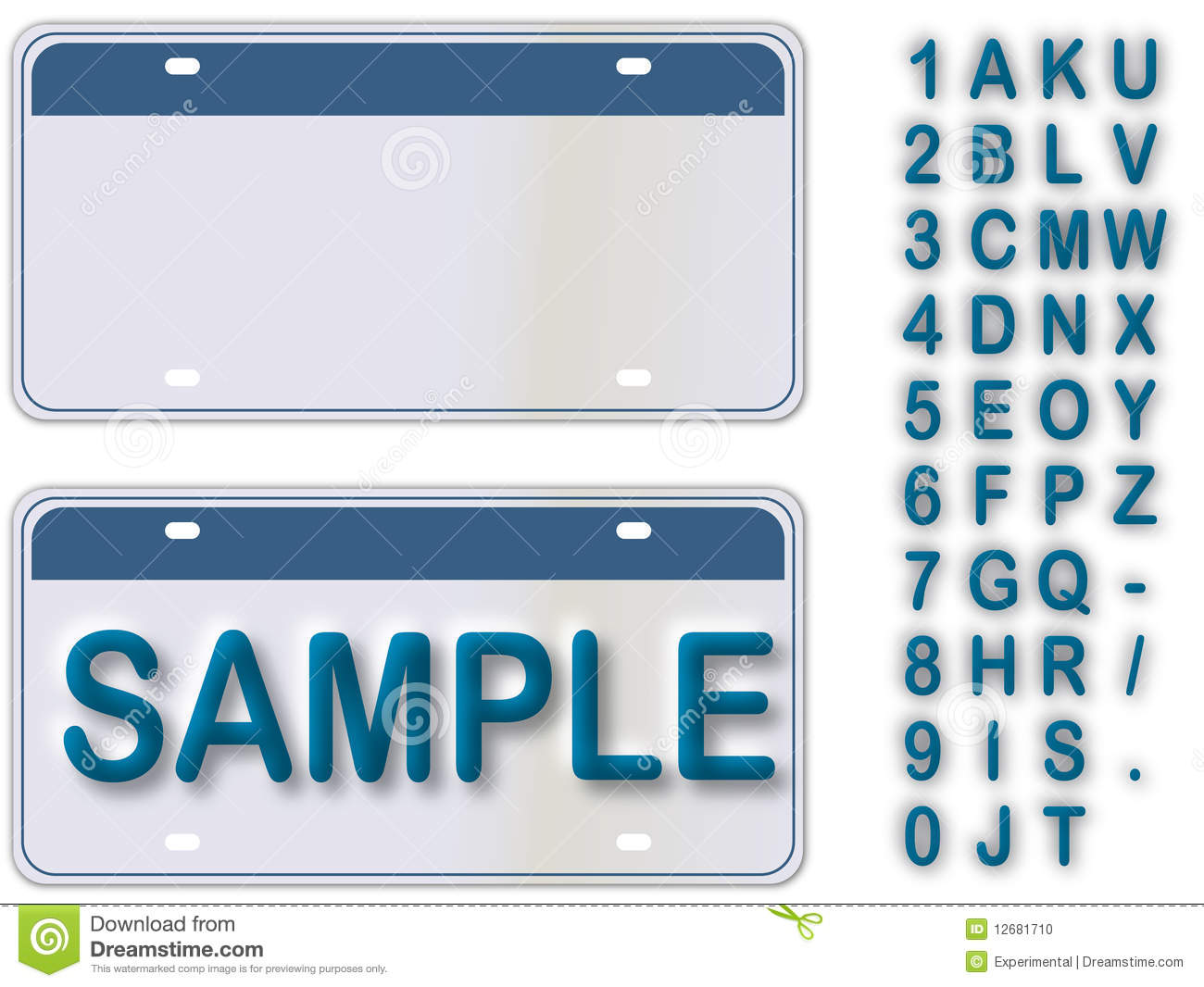 Empty License Plate With Editable Live Text
