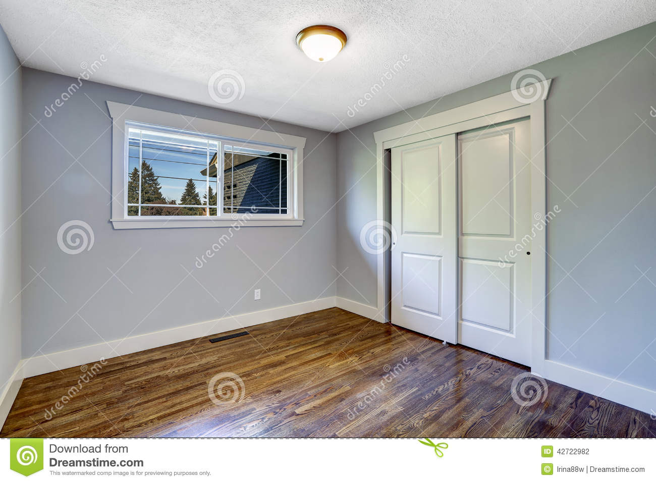 Light Blue Rooms empty light blue room with window stock photo - image: 42722982