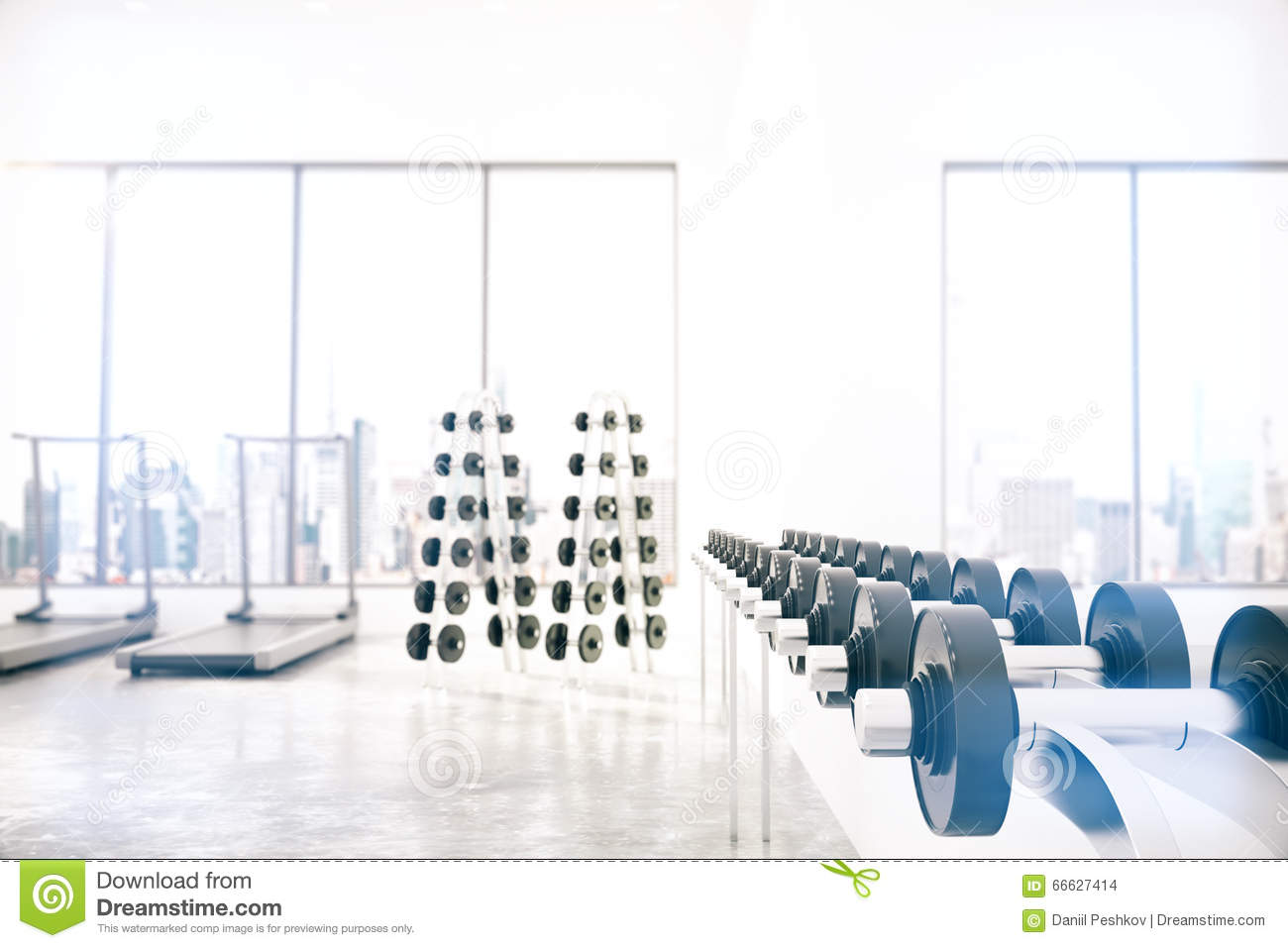 Interior of an empty gym royalty free stock photography
