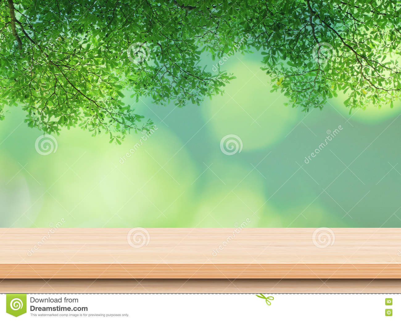 Royalty Free Stock Photo. Download Empty Light Wood Table Top ...