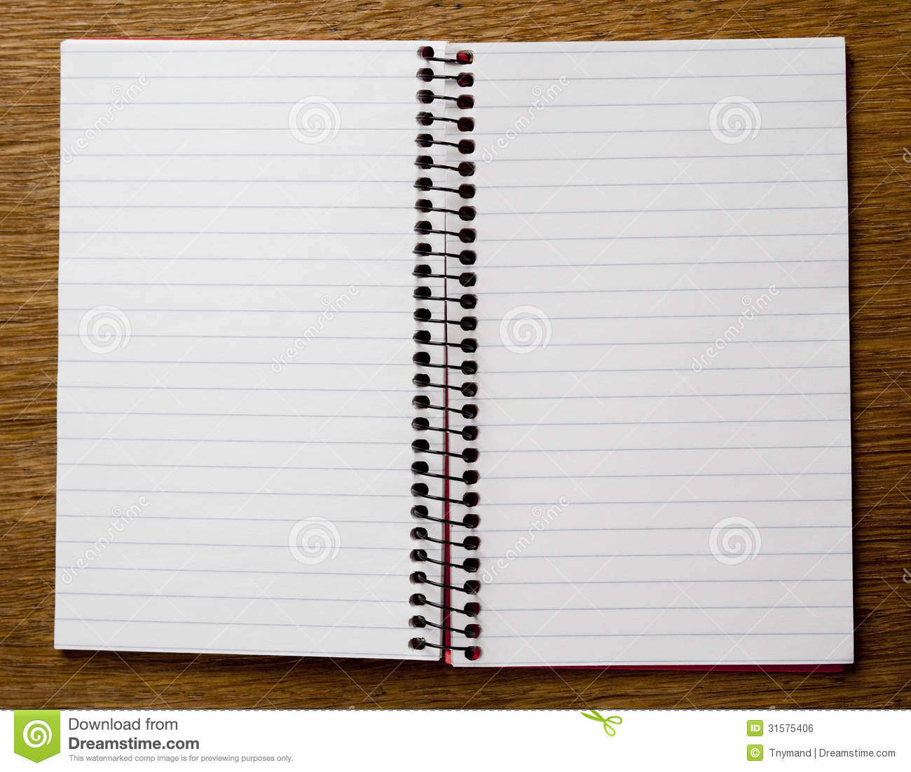 Empty Lined Paper Book Royalty Free Stock Image - Image: 31575406