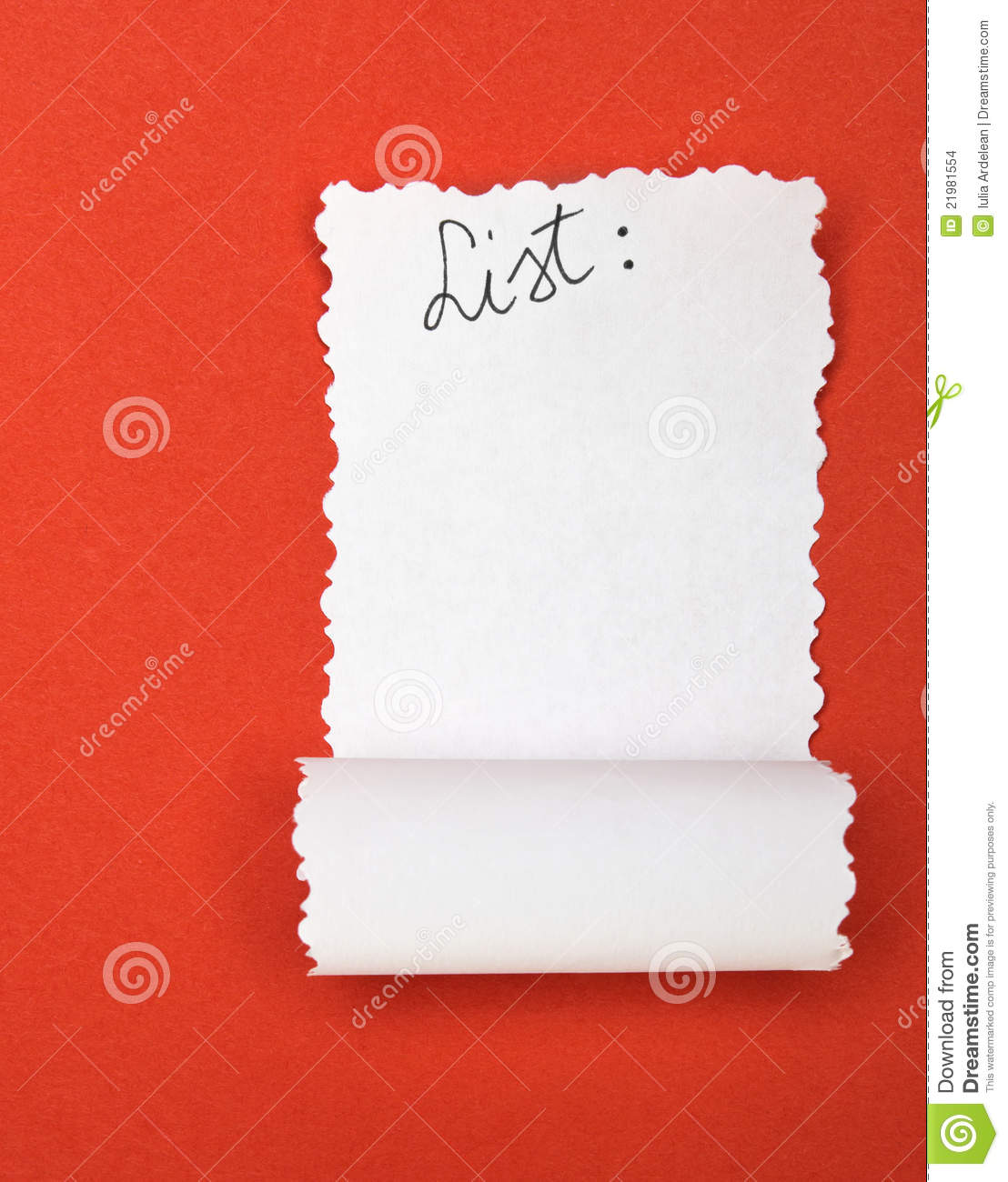 empty list stock photo  image of symbol  ripped  page