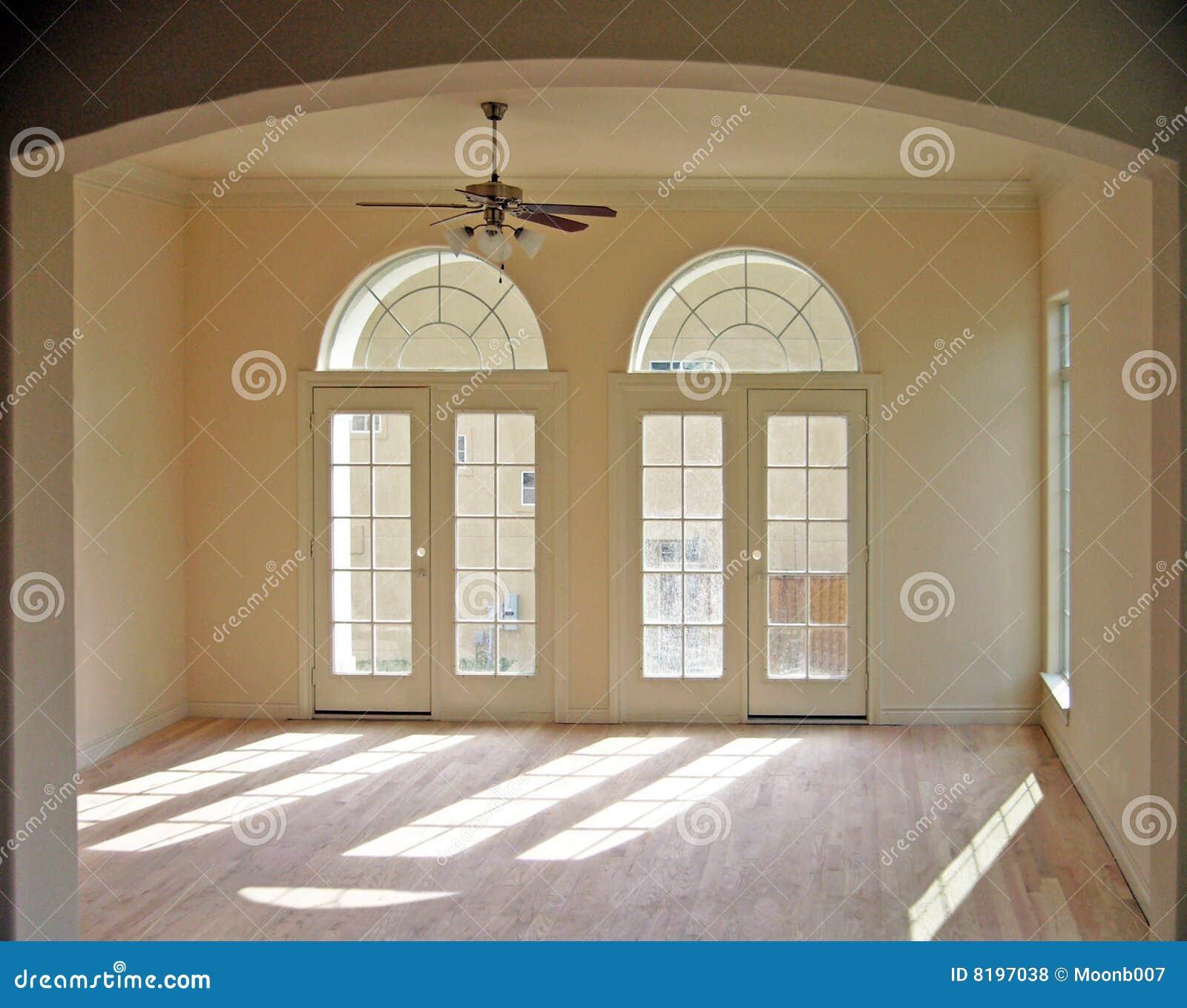 Empty Living Room: Empty Living Room Stock Photo. Image Of Living, Flooring