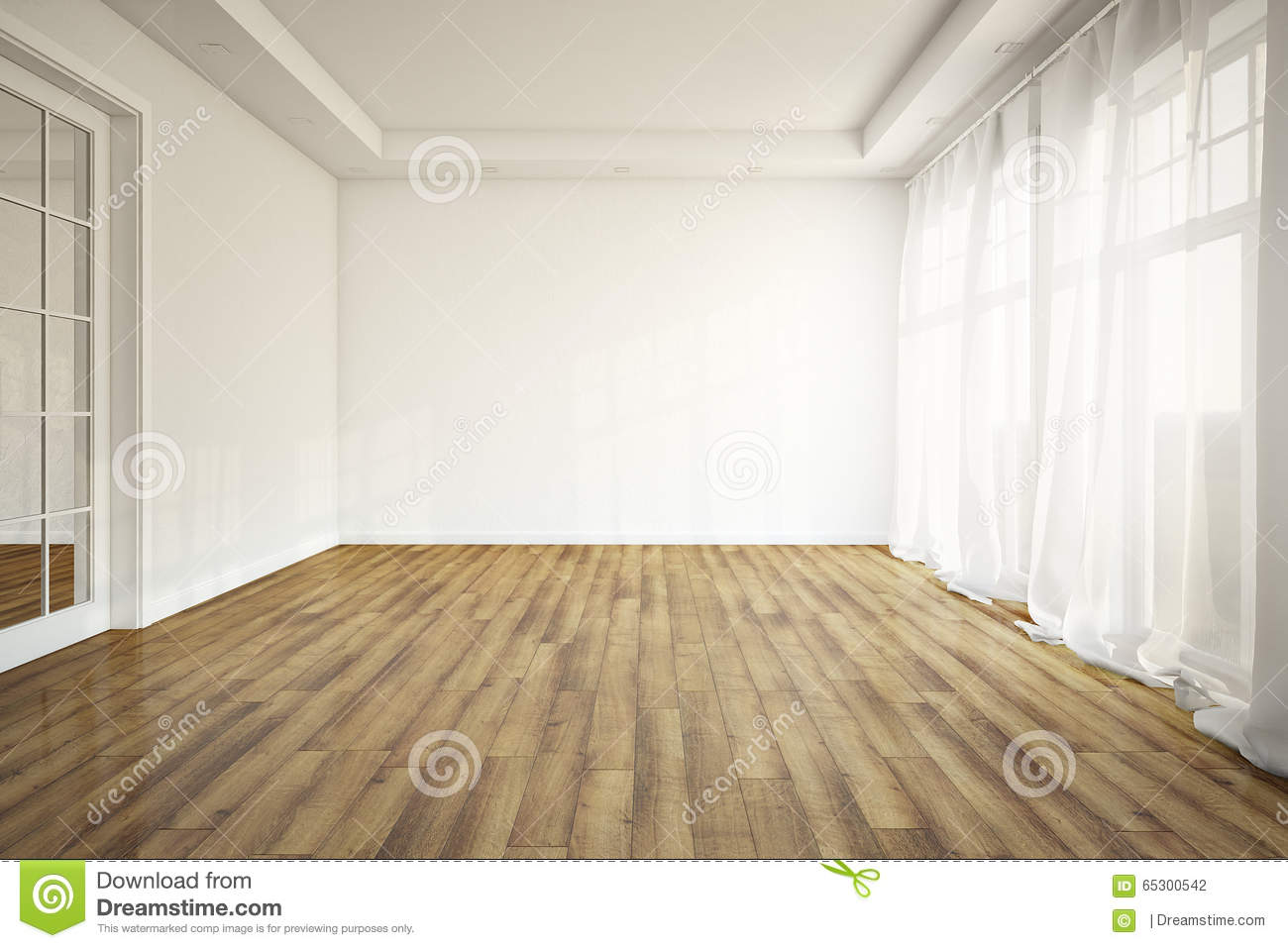 Empty Living Room Stock Illustration Of