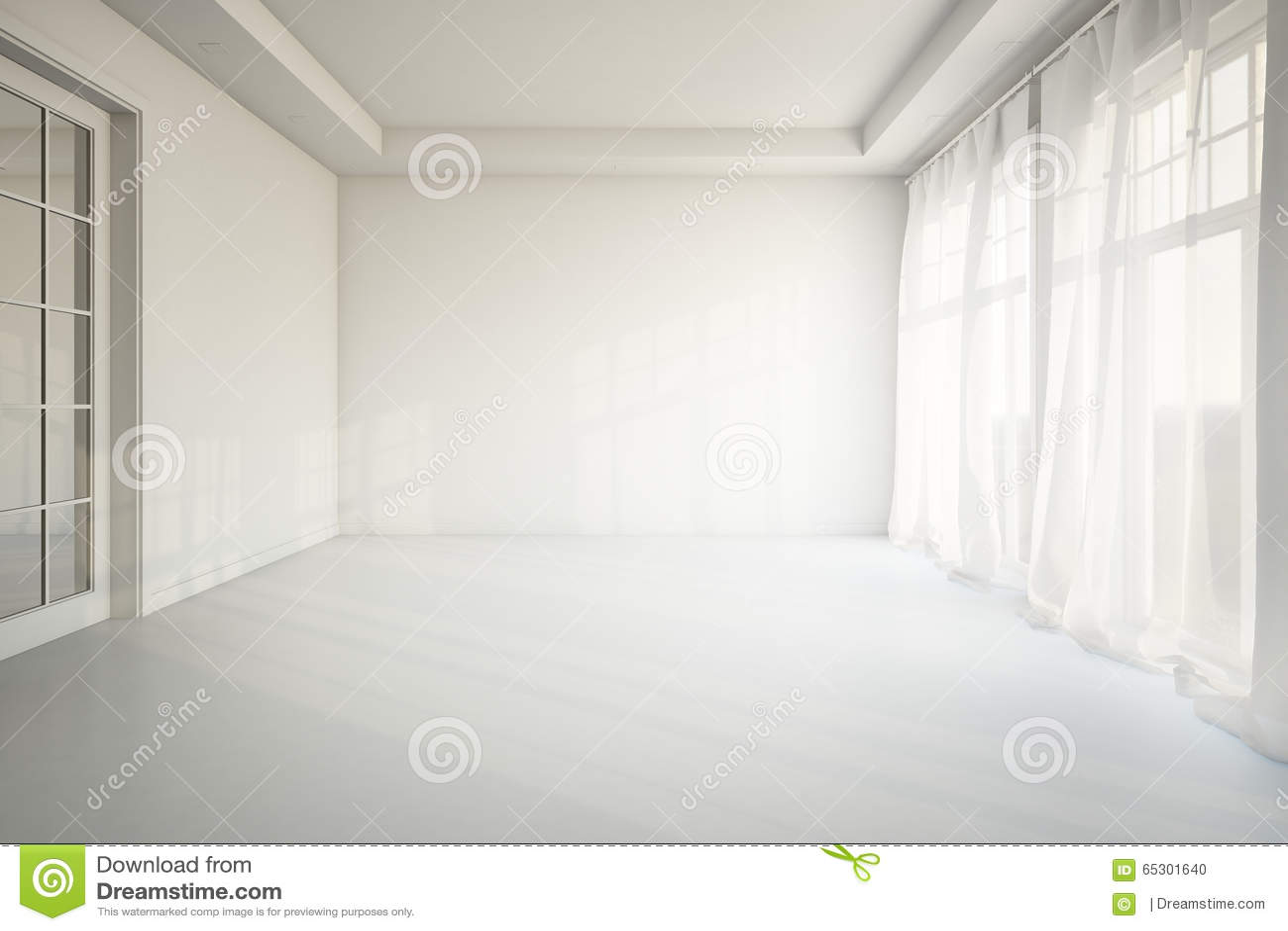 Empty Living Room Stock Illustration