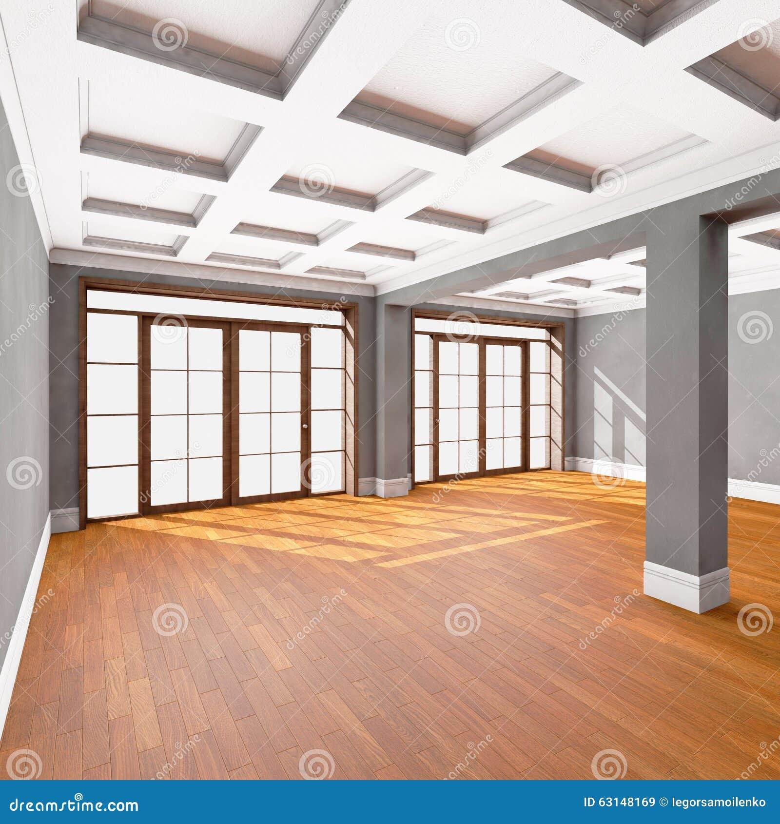 Empty Living Room: Empty Living Room Interior Stock Illustration