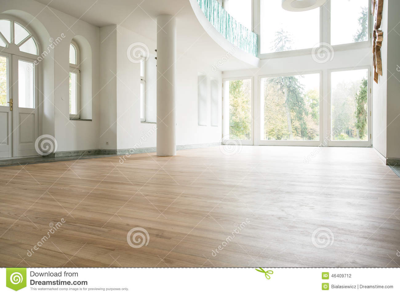 Empty Living Room Stock Photography