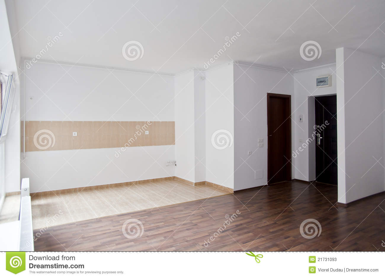 Empty Living In Studio Type Apartment Stock Photos Image 21731093