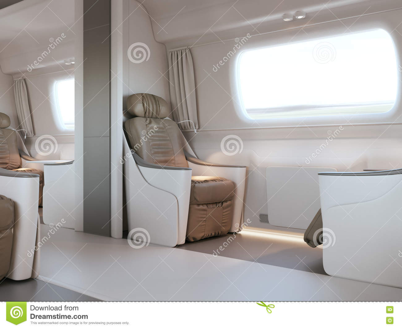 empty luxury passenger train or bus interior with grey seats closeup side view mockup of tv. Black Bedroom Furniture Sets. Home Design Ideas