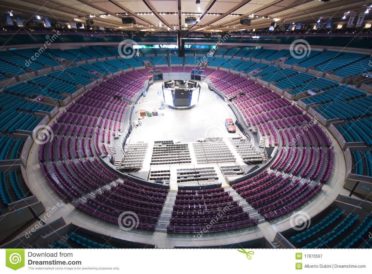 empty madison square garden editorial photography image