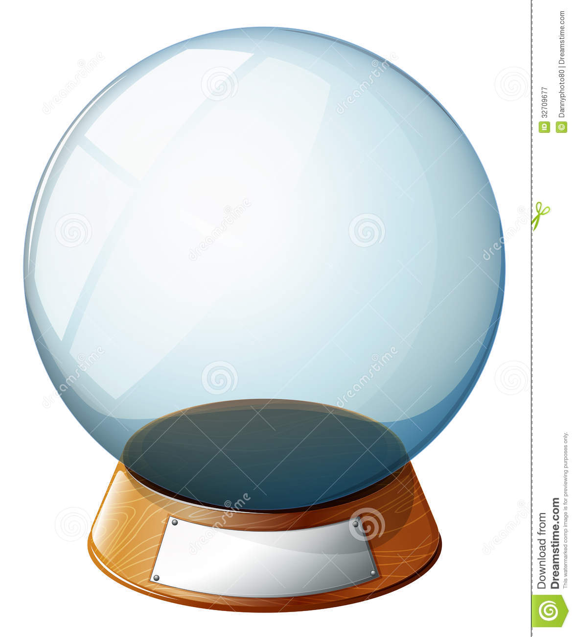 An Empty Magic Ball Royalty Free Stock Photography - Image ...