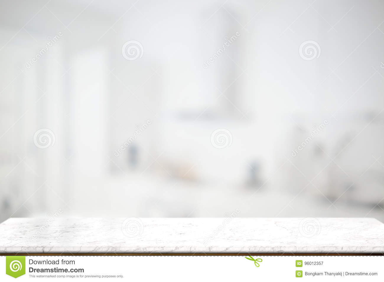 Empty Marble Top Table In Bathroom Background Stock Image Image
