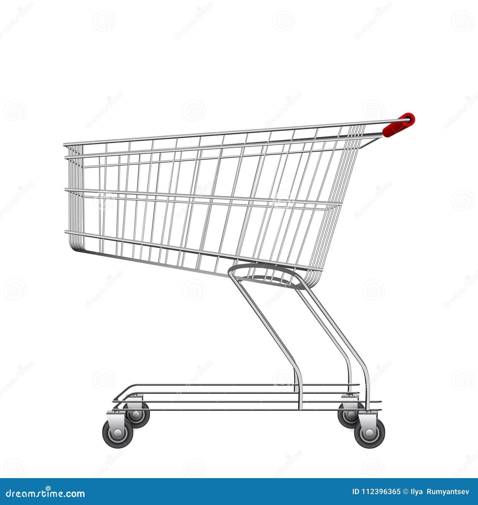 c6b61a9cf1f Empty Market Trolley Illustration