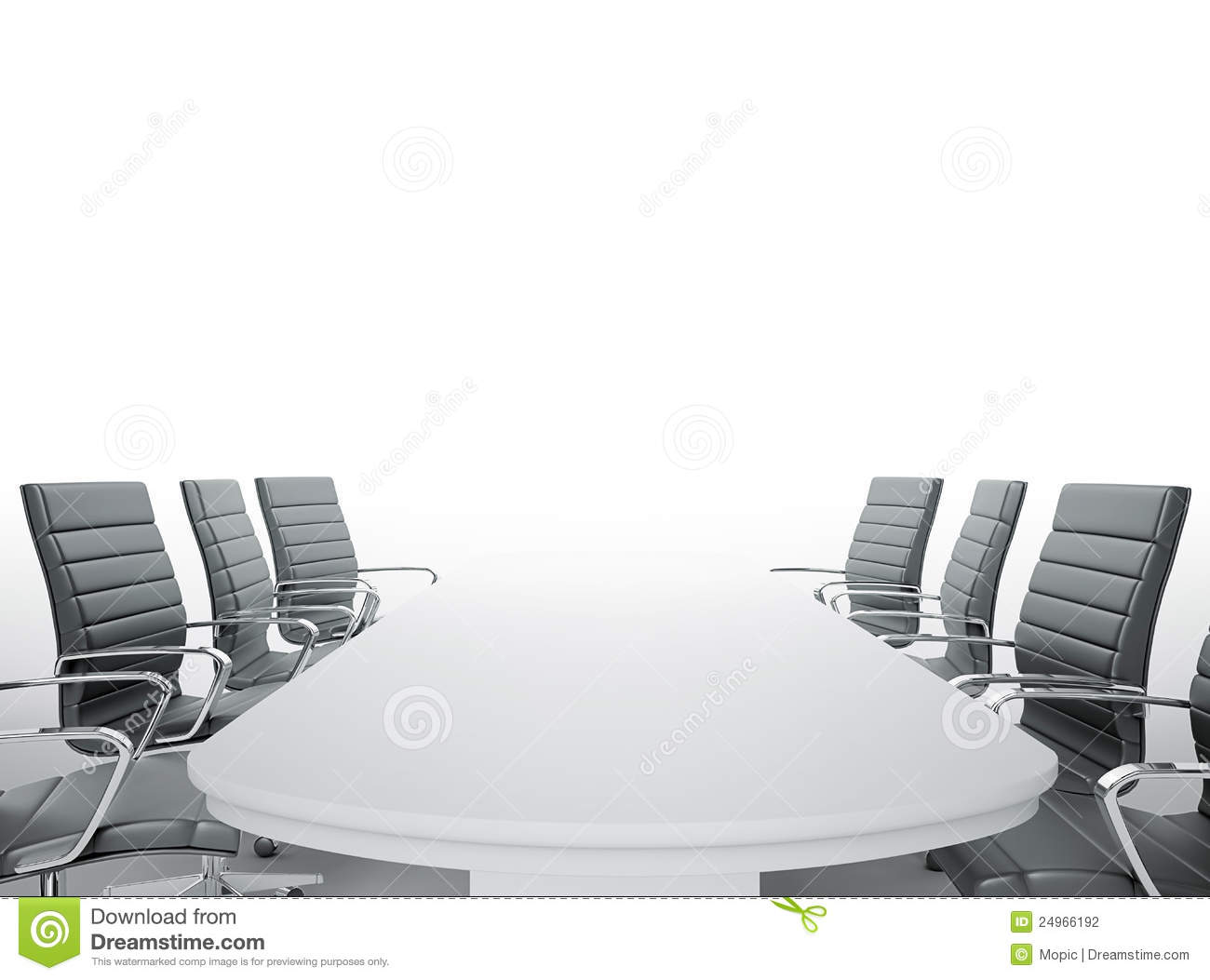 Empty Meeting Room Stock Photography Image - Conference room table and chairs clip art