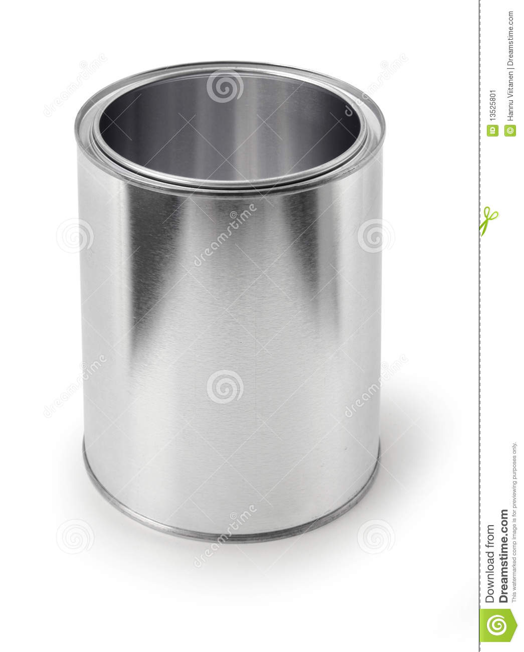 Empty Metal Can Stock Image Image Of Bucket Metal