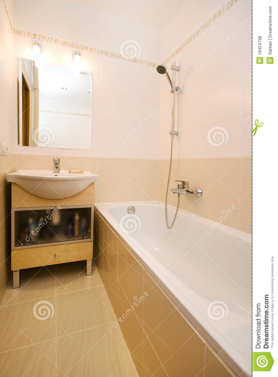 Empty Modern Bathroom Royalty Free Stock Photos Image 19454798