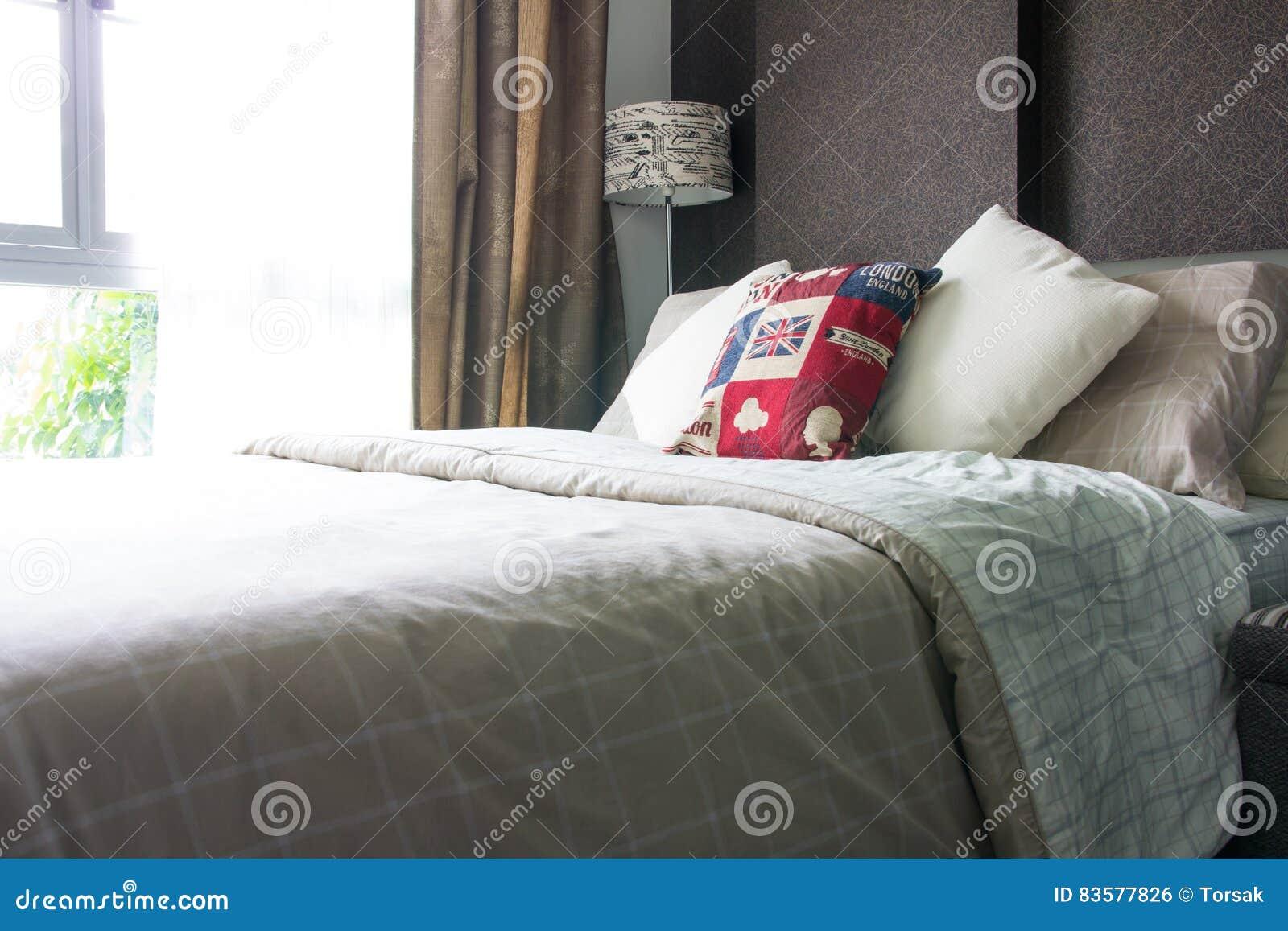 Empty modern bedroom interior