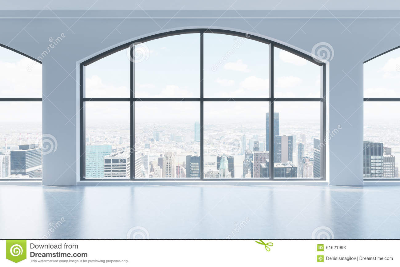 Empty interior with city view royalty free stock photo - Finestre panoramiche ...