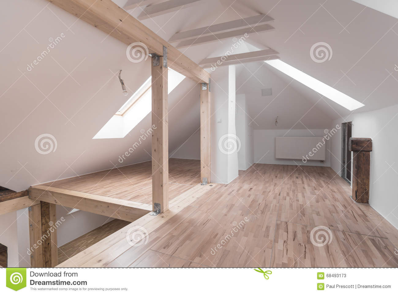 Empty modern interior stock image image of makeover
