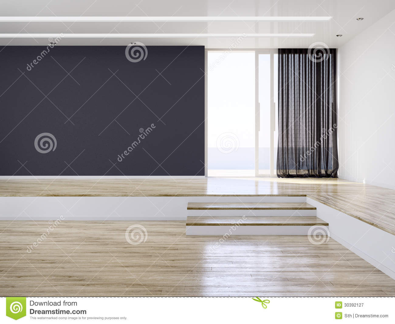 Empty Modern Interior Room Royalty Free Stock Photography Image 30392127