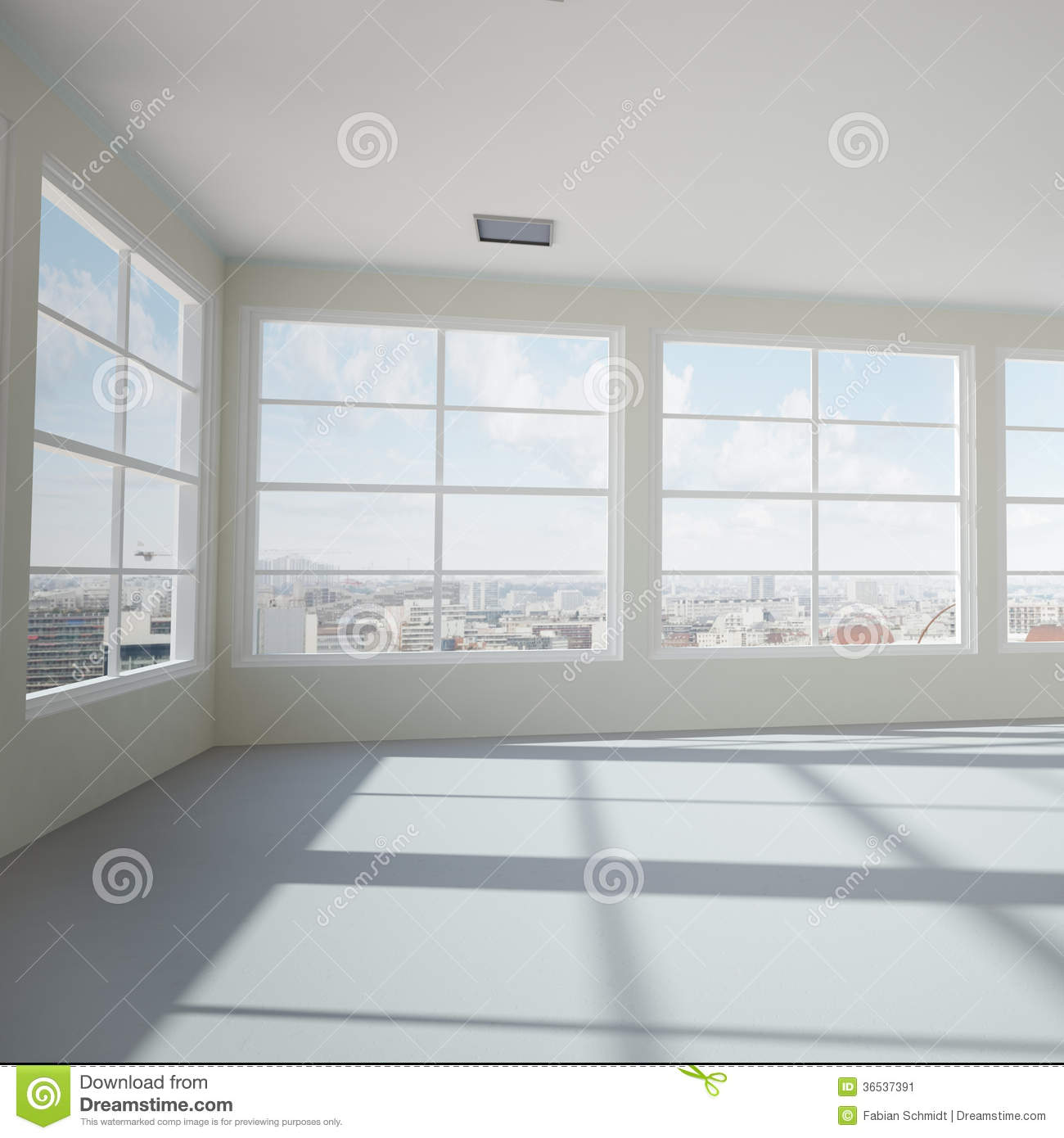 Empty Modern Office Room Stock Image Image 36537391