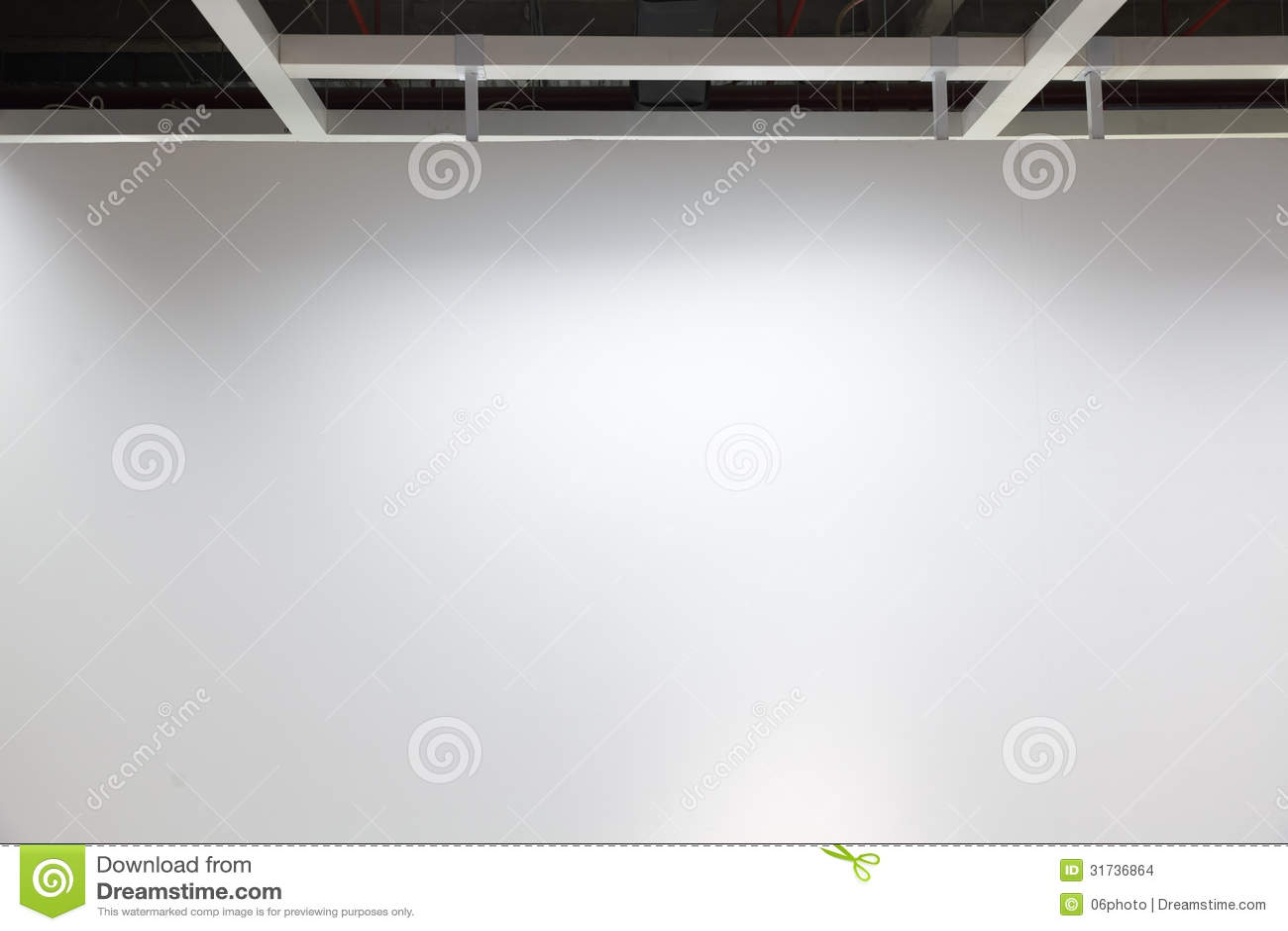 Empty modern shop with illumination wall