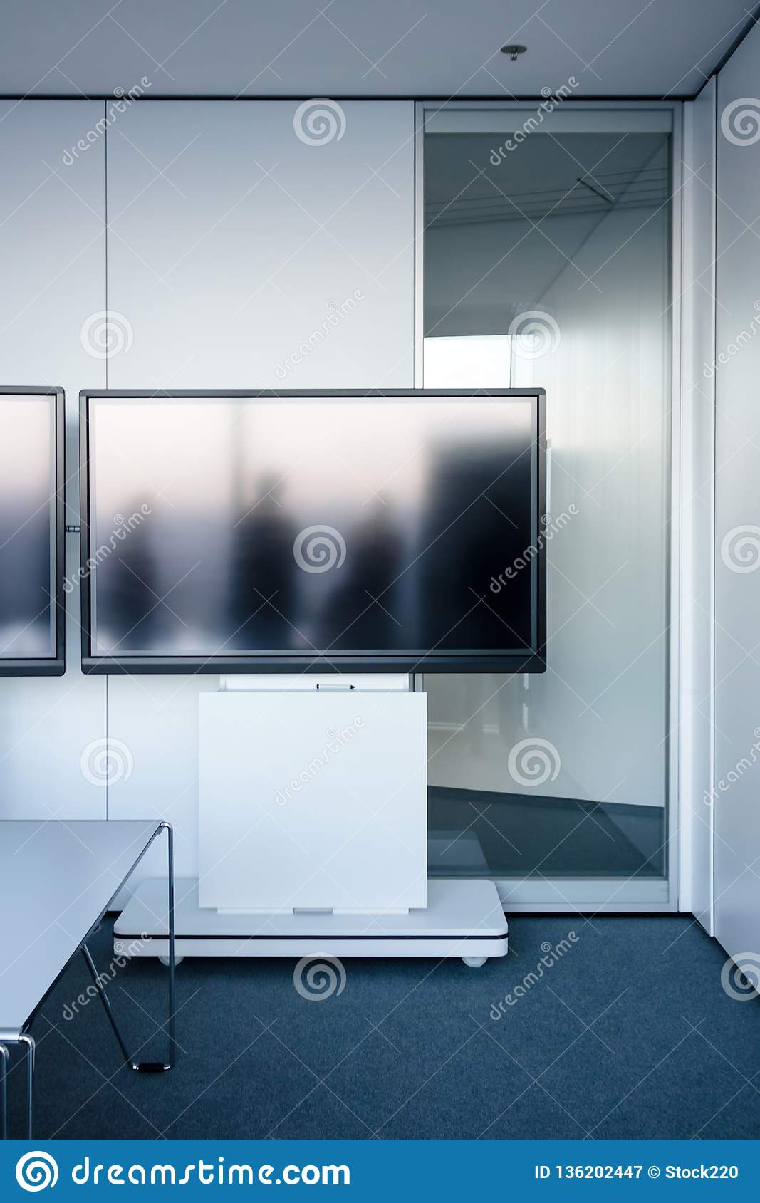 Empty modern video conference room