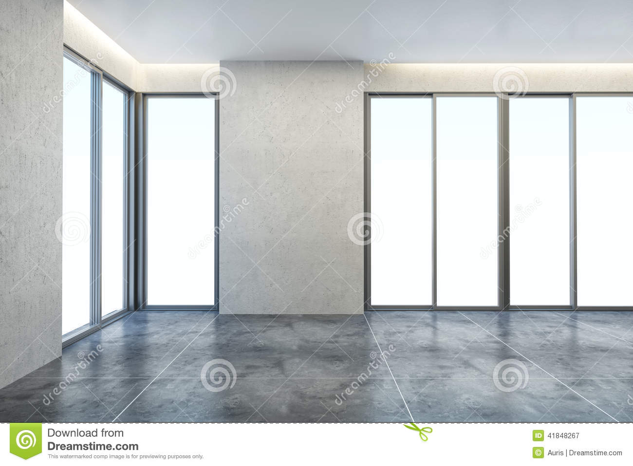 Empty New Office Room Stock Image Image Of House Scene