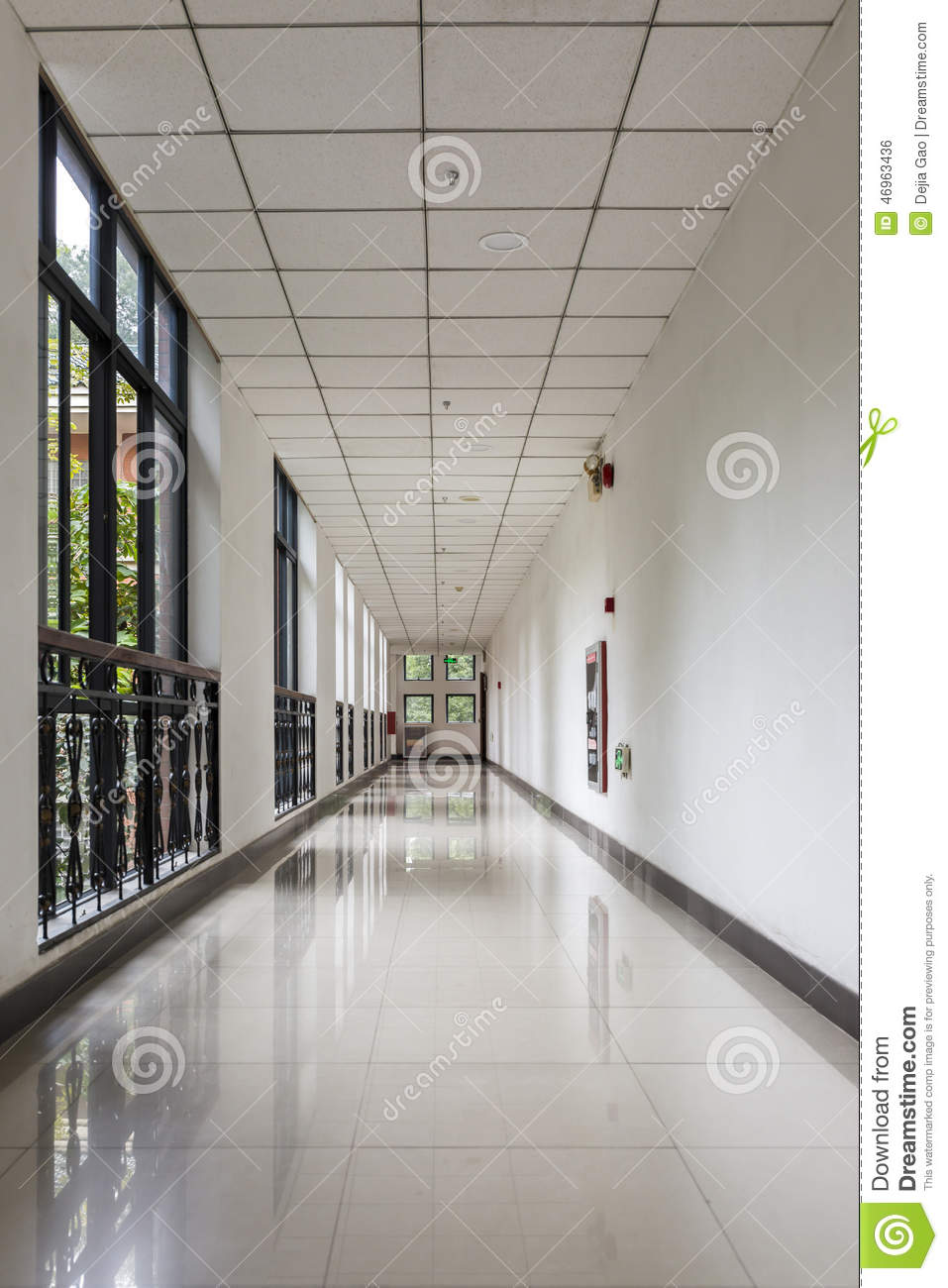 Office Corridor Stock Photo Image Of Architecture