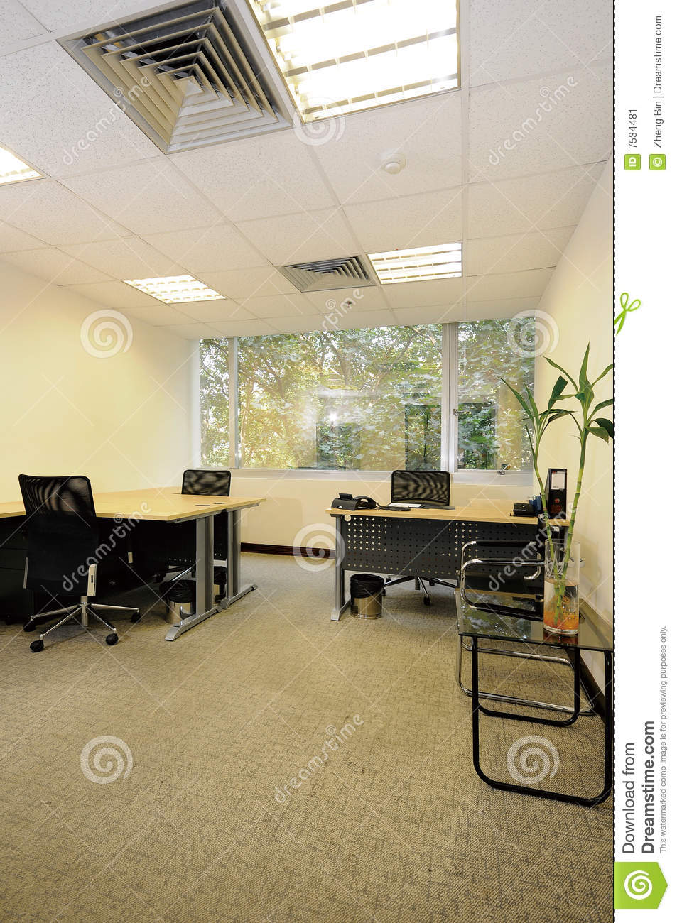 Empty Office Room Stock Image Image 7534481