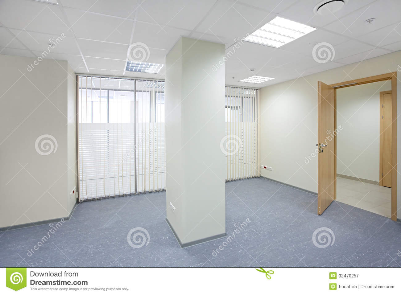 Empty Office Room Empty office room with glass