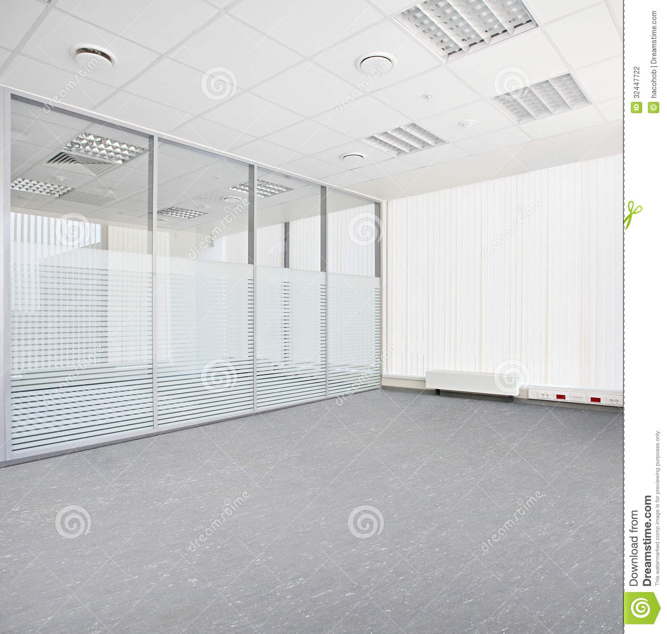 Empty office room stock photography image 32447722