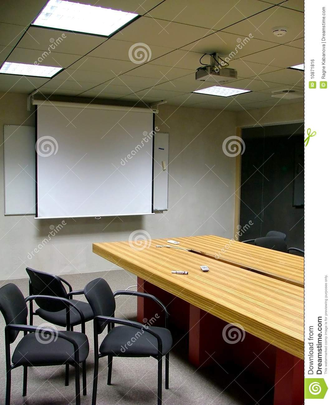 Empty Office Room After A Meeting Royalty Free Stock Image