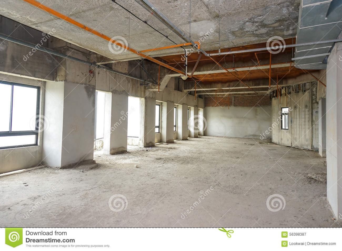 Empty office room for rent stock image. Image of bare - 56398387