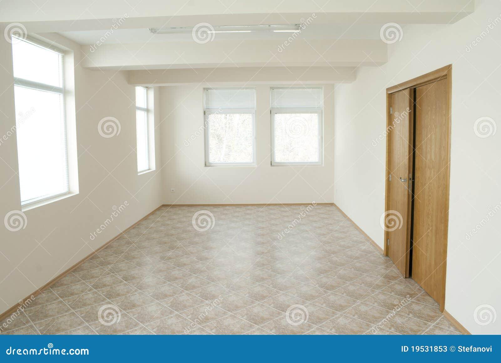 Empty Office Room With Wooden Door Stock Photos Image