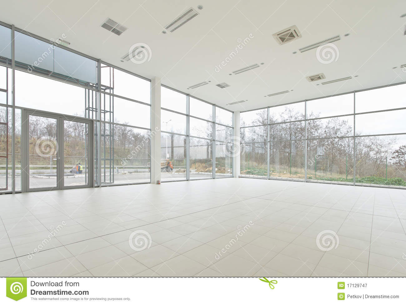 Miraculous Empty Office Showroom Stock Image Image Of Hall Large Download Free Architecture Designs Scobabritishbridgeorg