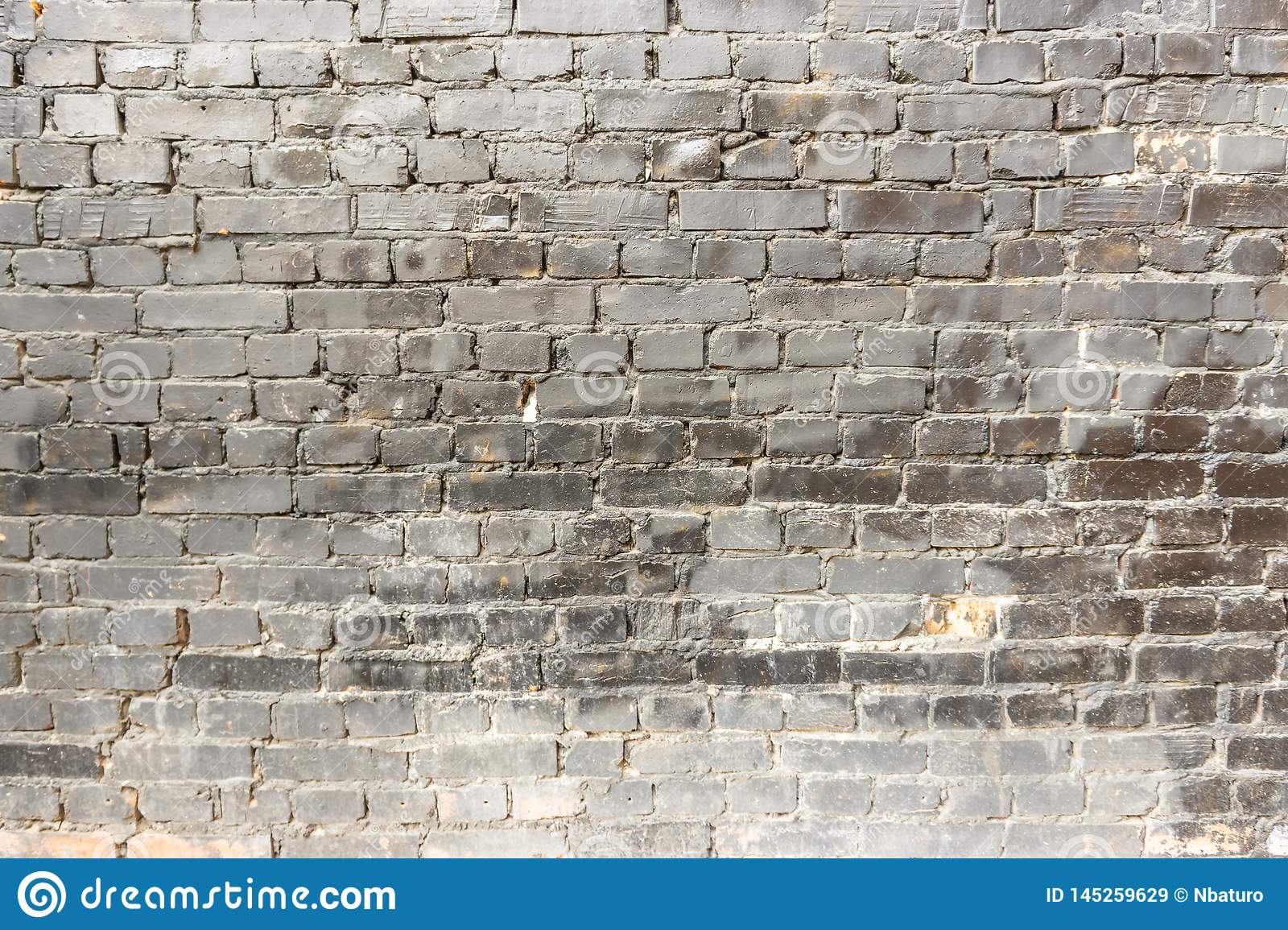 Empty Old Brick Wall Texture Stock Image Image Of Paint Grunge