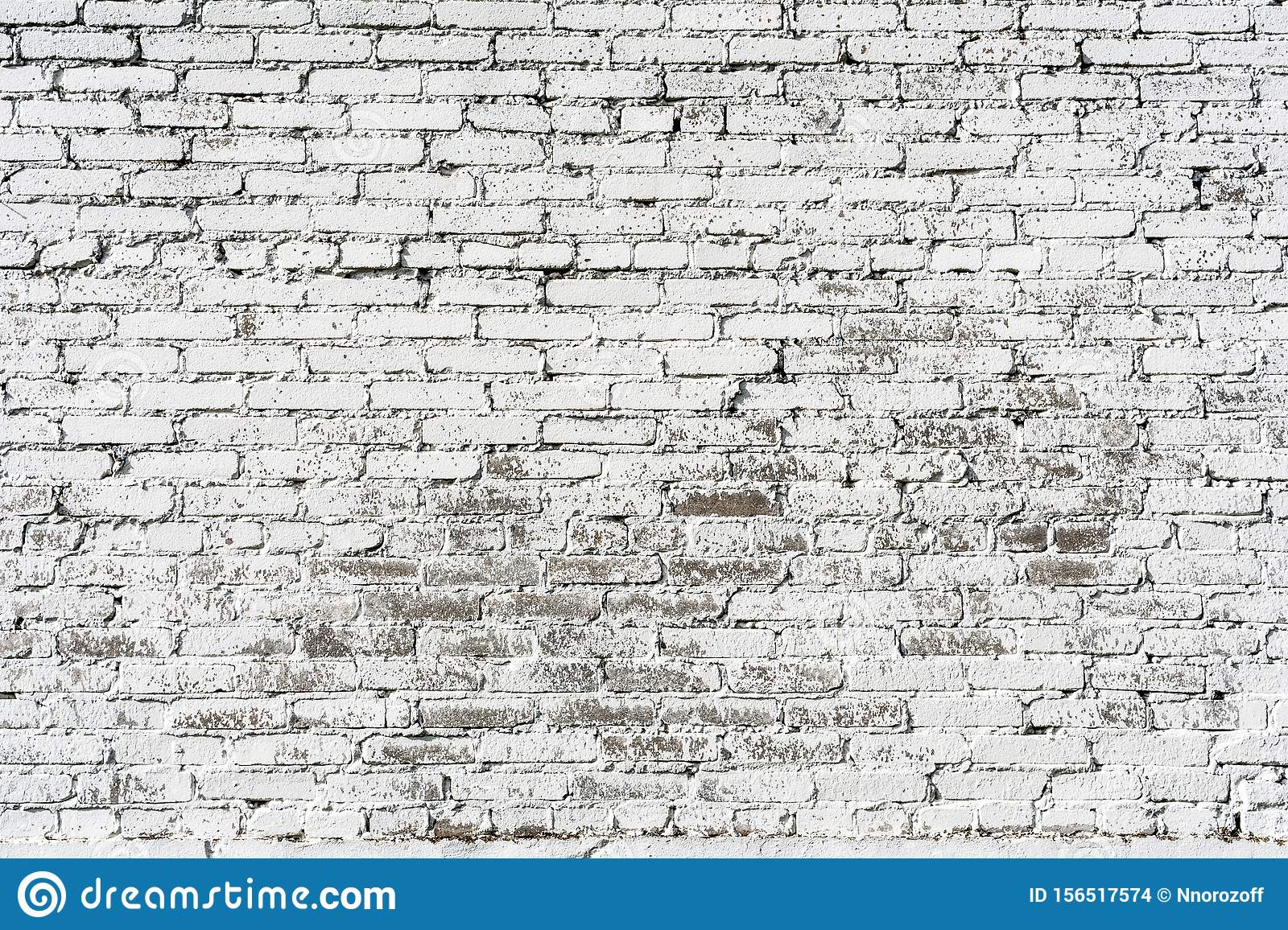 Empty Old Brick Wall Texture. Painted Distressed Wall ...