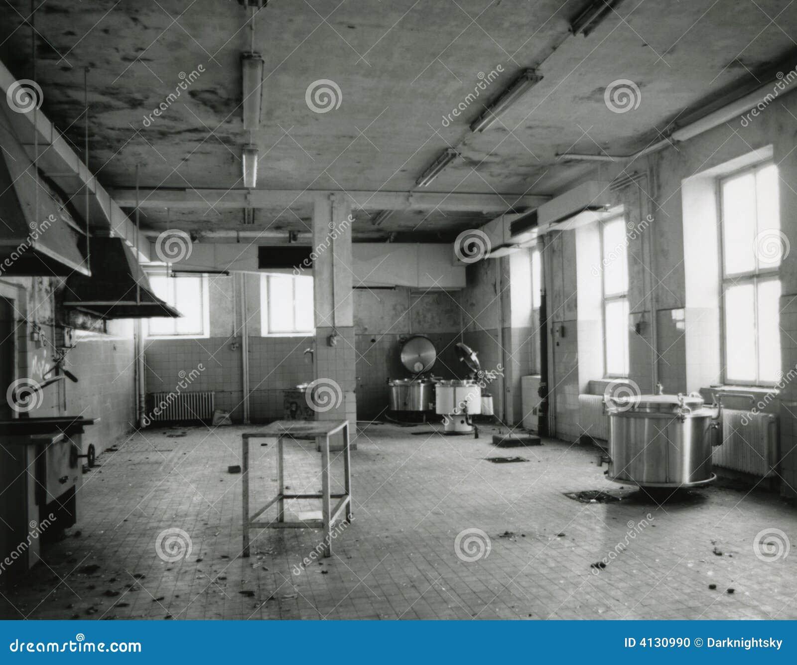 Old Kitchen Empty Old Kitchen Stock Photo Image 4130990